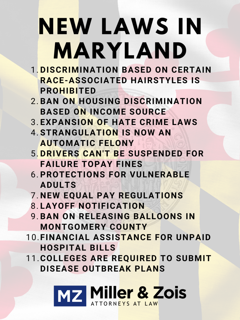 new maryland laws